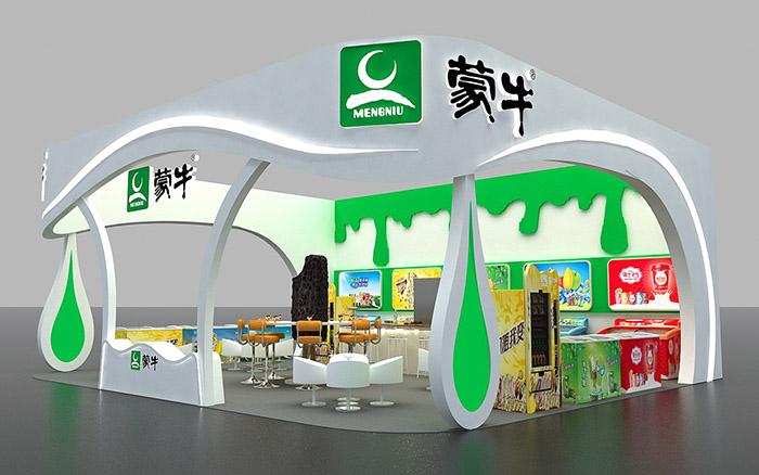 北京蒙牛乳业集团_AIFE展台搭建-蒙牛-北京展览展位设计|圆桌国际展览设计公司